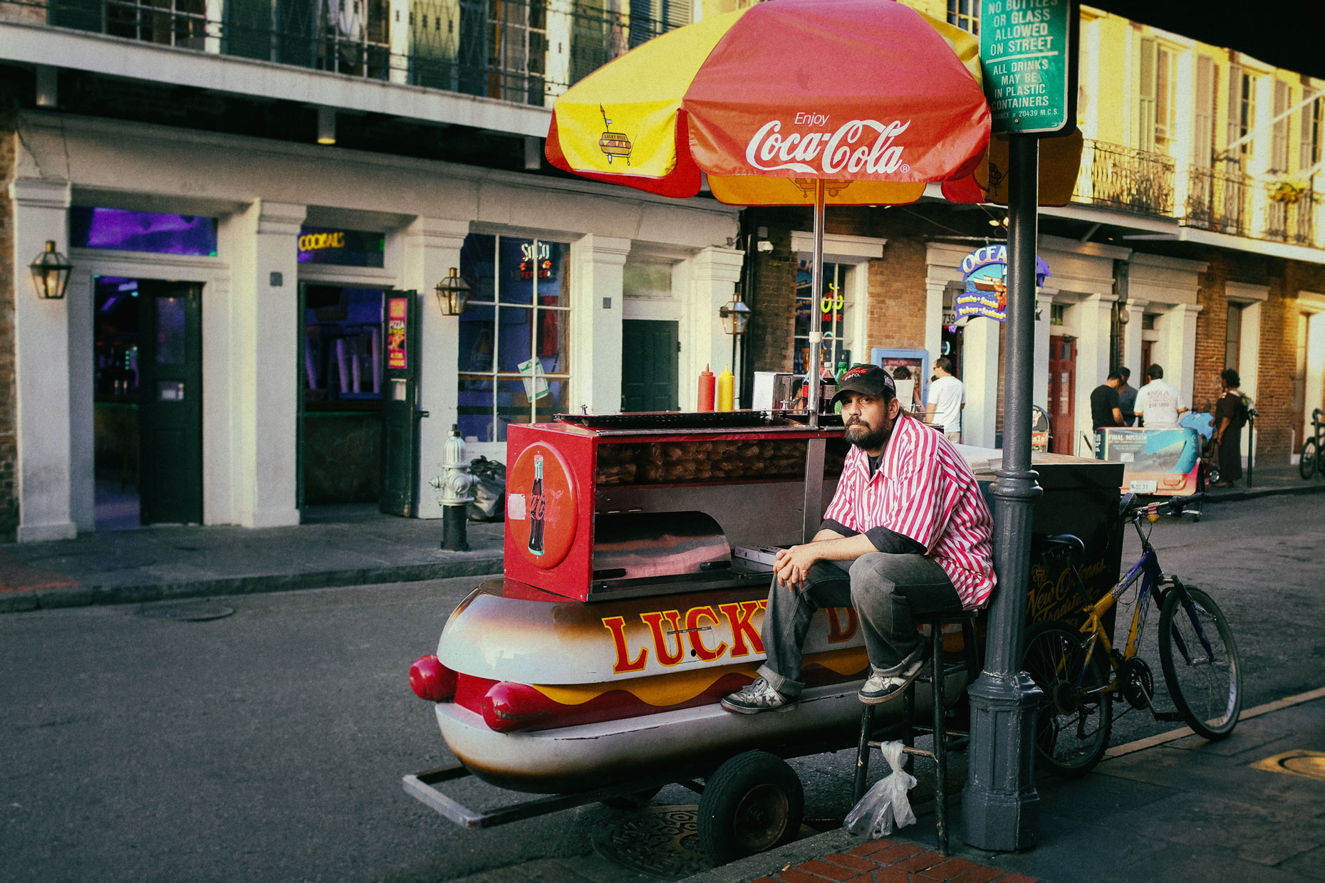 Lucky Dog in New Orleans by photographer Kevin Brown