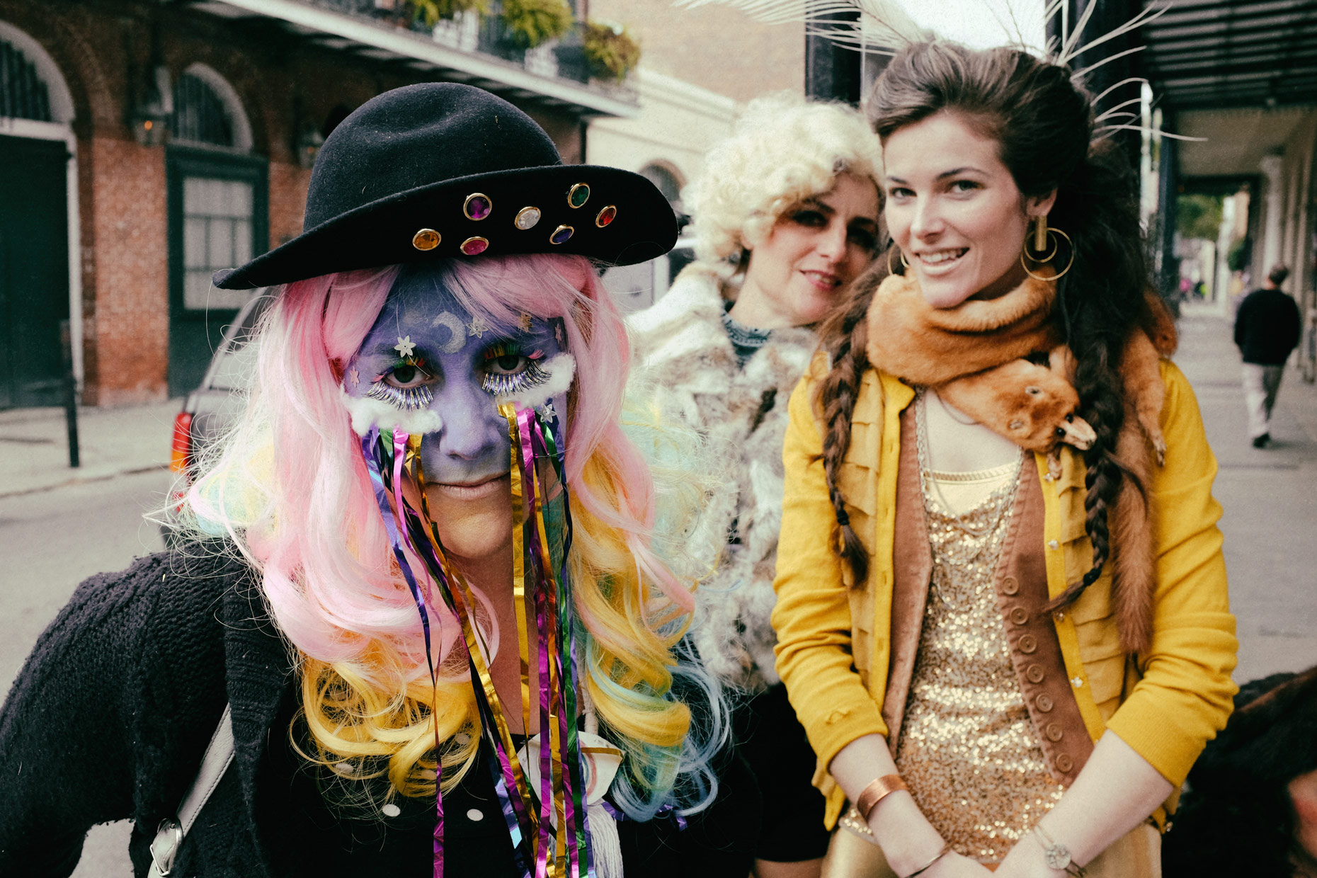 Mardis Gras girls in New Orleans by photographer Kevin Brown