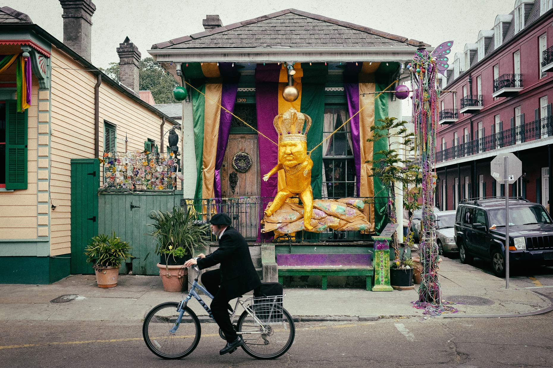 Shotgun house in New Orleans by photographer Kevin Brown