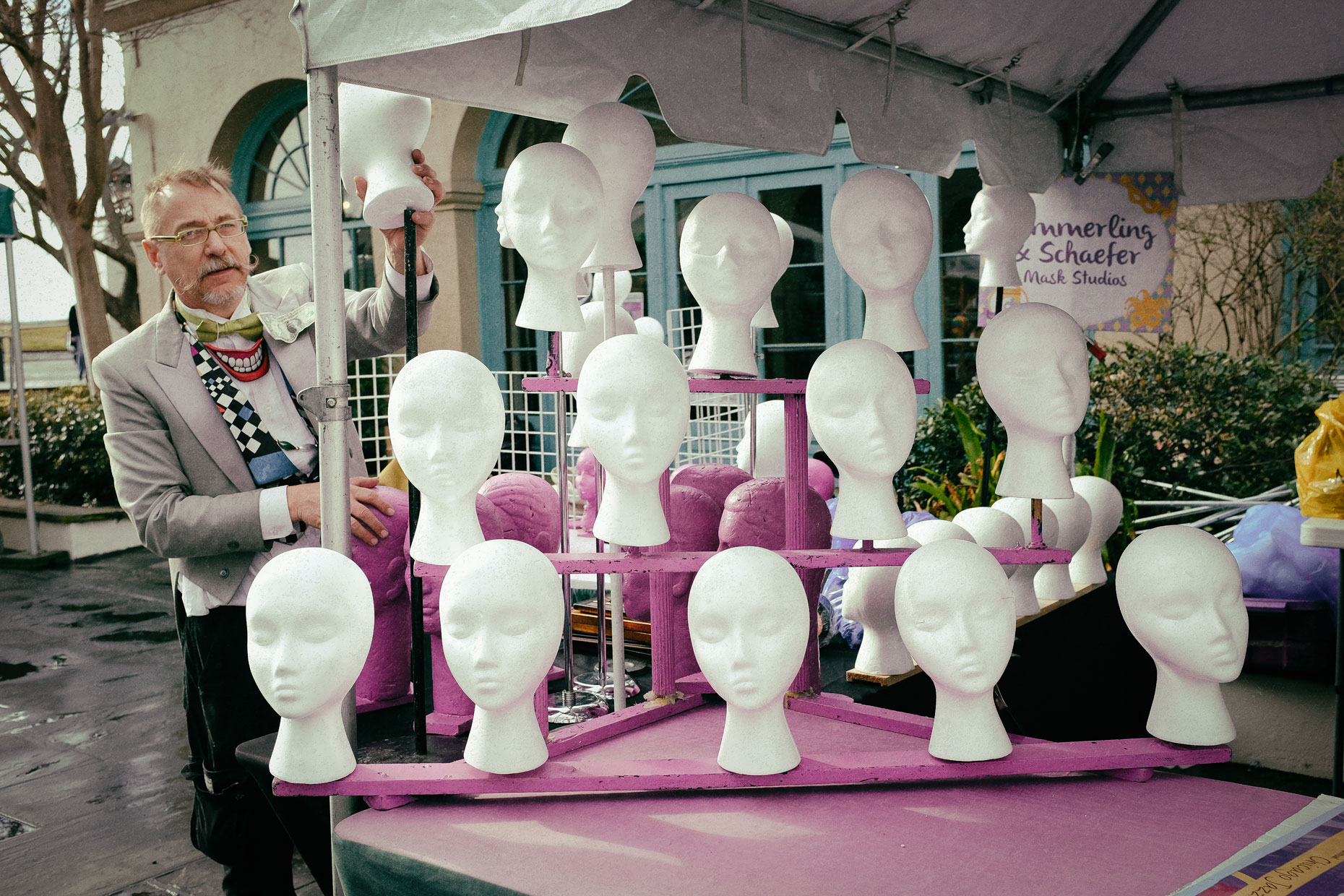 Mannequin heads in New Orleans by photographer Kevin Brown