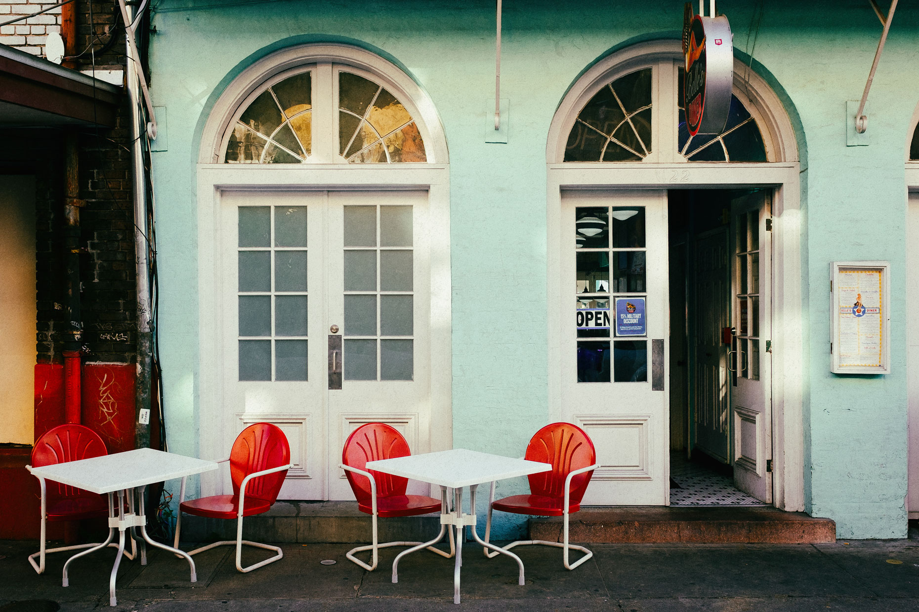 Cafe in New Orleans by photographer Kevin Brown