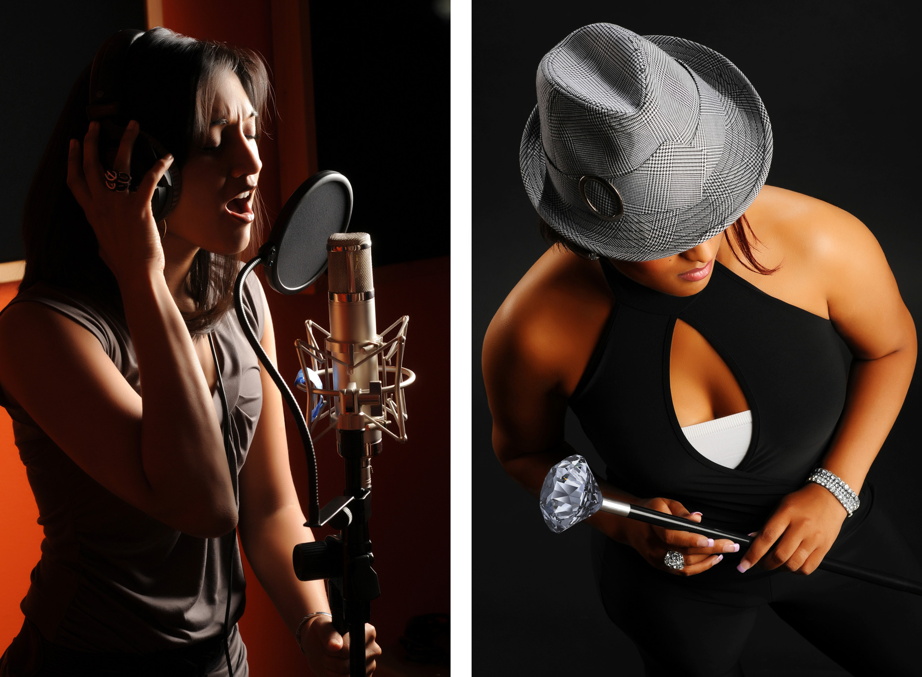 Singers in studio - Kevin Brown editorial photographer Dallas