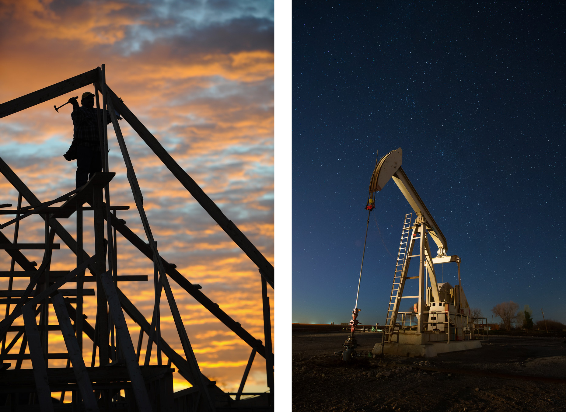 Industrial photographer Kevin Brown shoots construction and oil and gas.