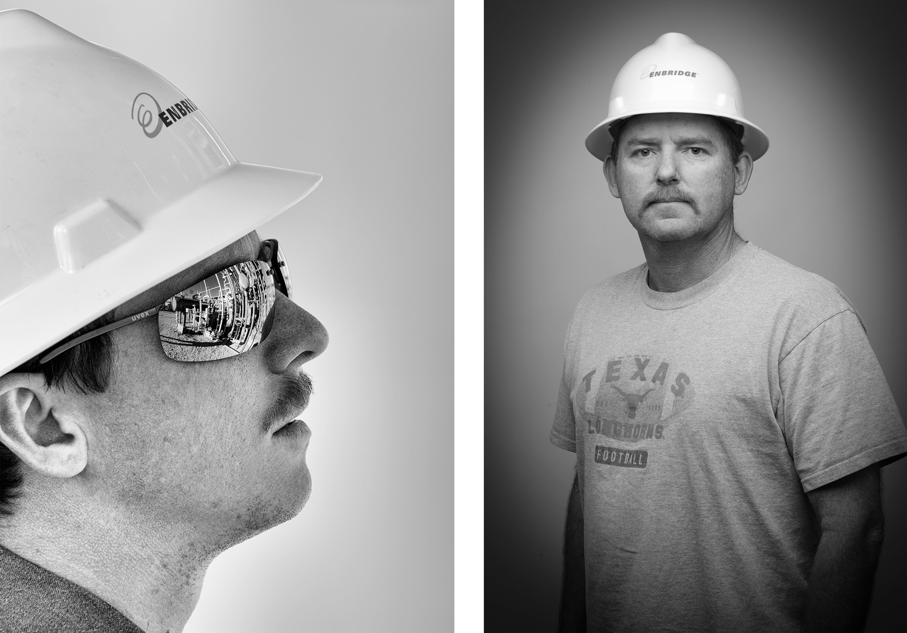Oil and gas worker portraits by Kevin Brown, photographed in east Texas.
