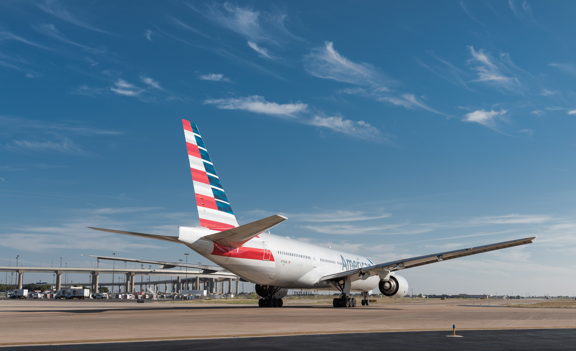 American Airlines jet at DFW Airport by commercial photographer in Dallas Kevin Brown