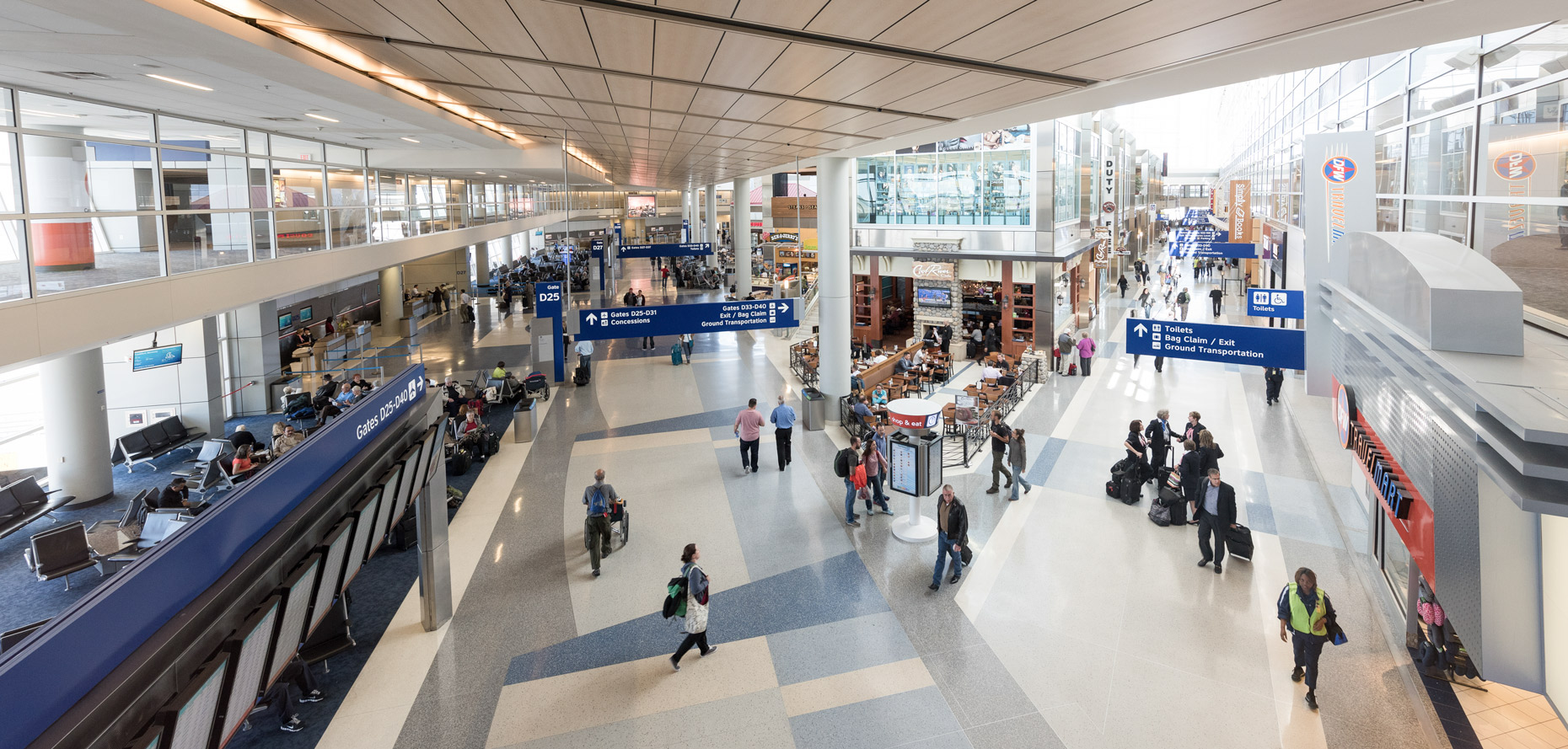 Terminal D at DFW Airport by commercial photographer in Dallas Kevin Brown