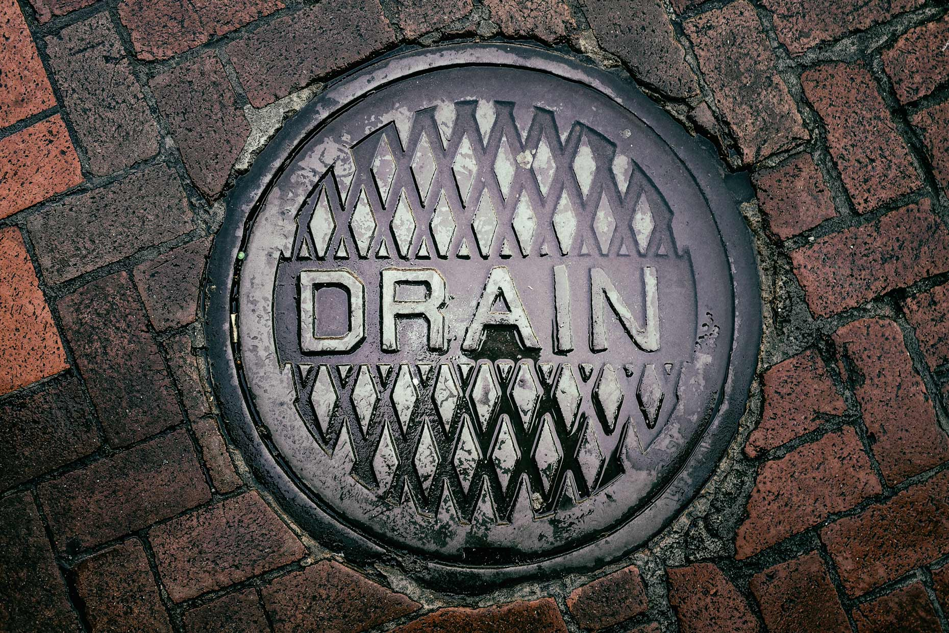 Drain in New Orleans by photographer Kevin Brown