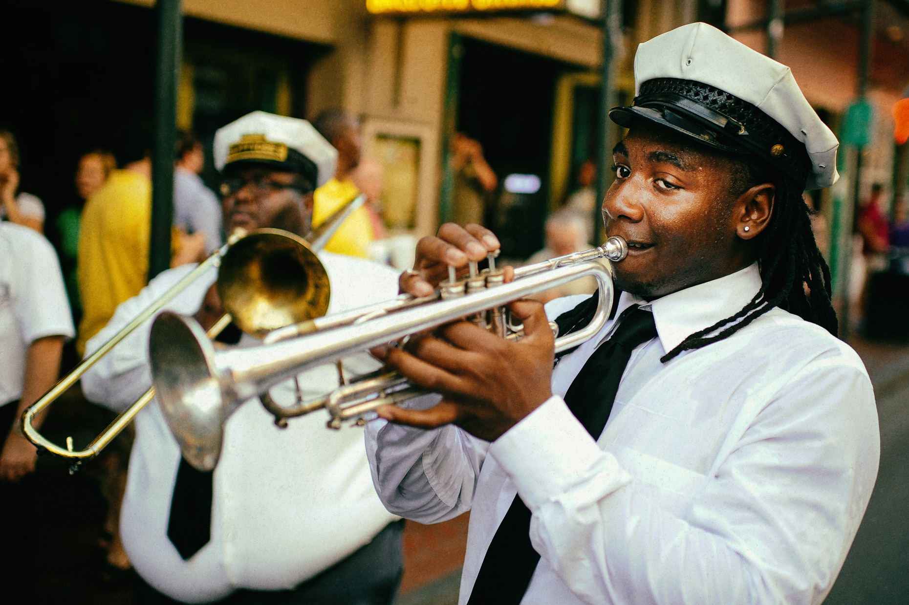 Street jazz in New Orleans by photographer Kevin Brown