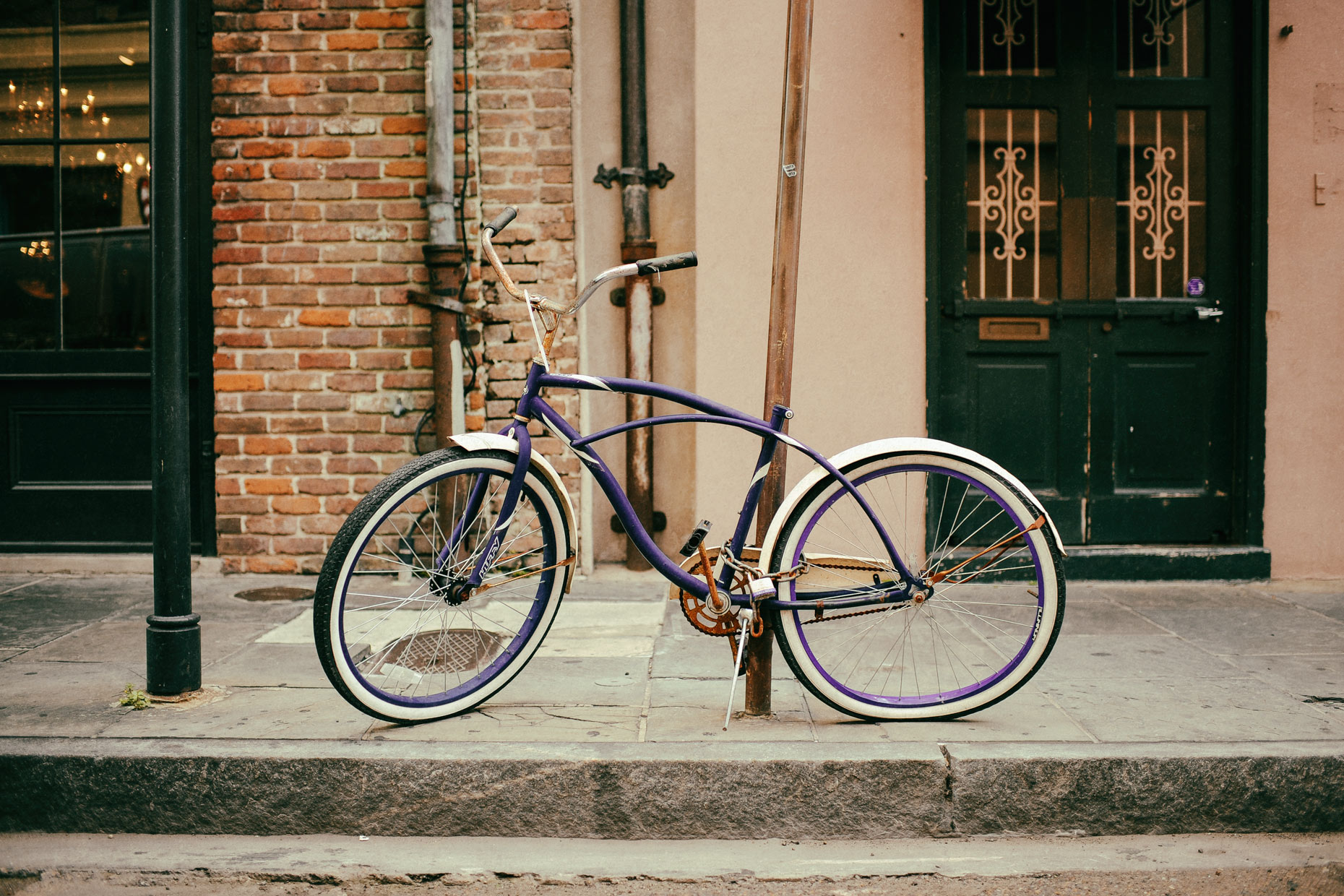 Bicycle in New Orleans by photographer Kevin Brown