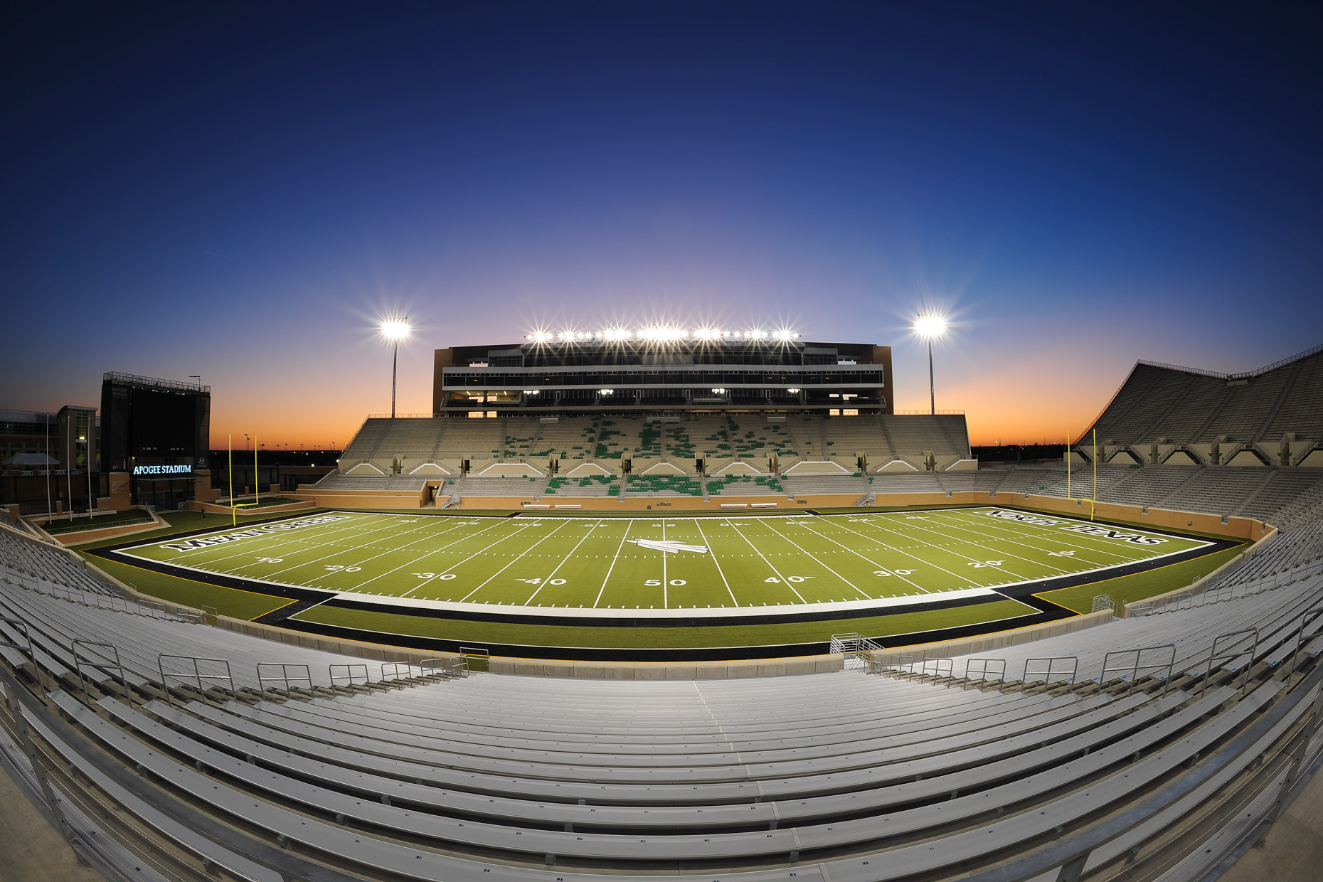 University of North Texas football stadium by Dallas architectural photographer Kevin Brown