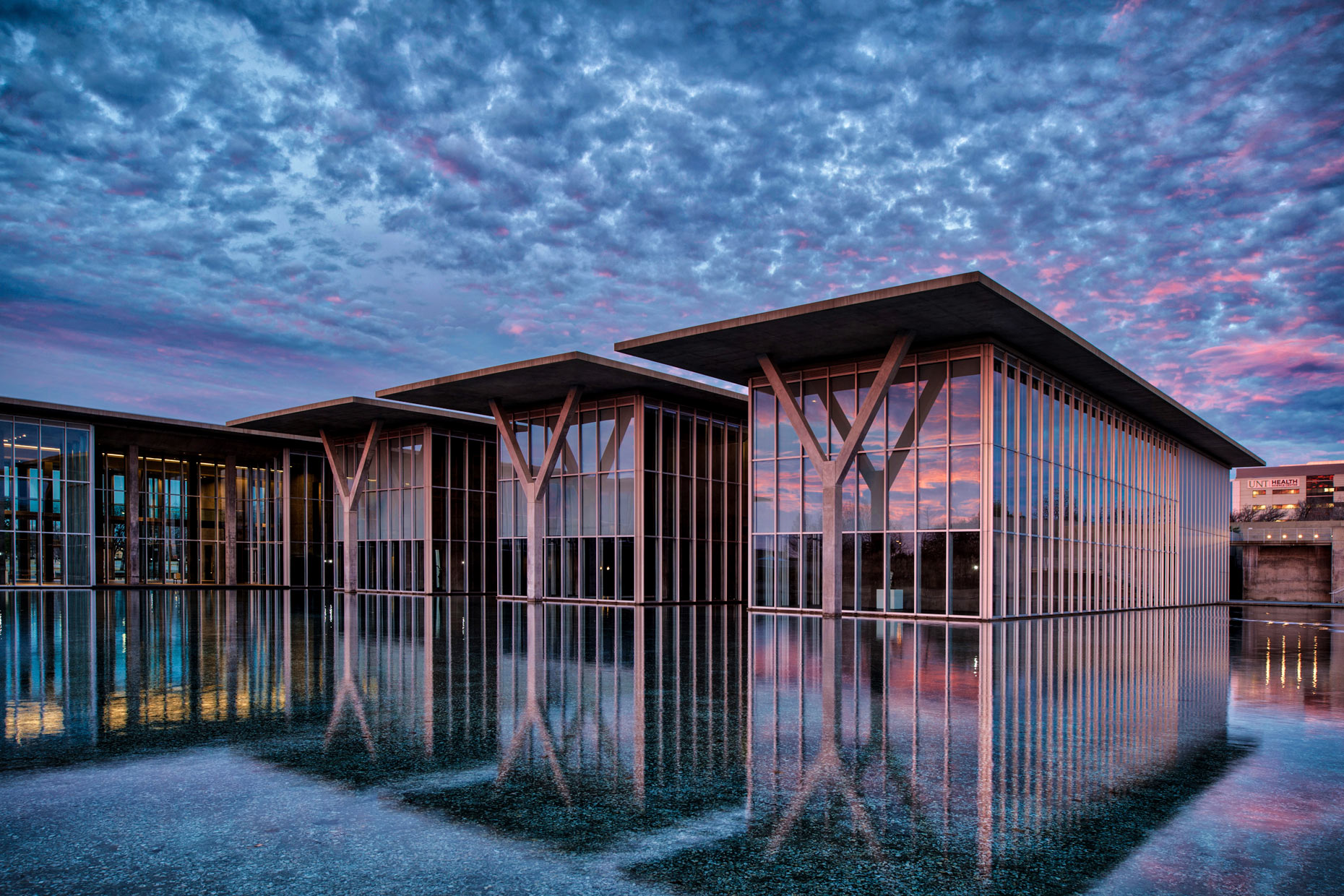 Fort Worth Modern Art Museum by architectural photographer Kevin Brown