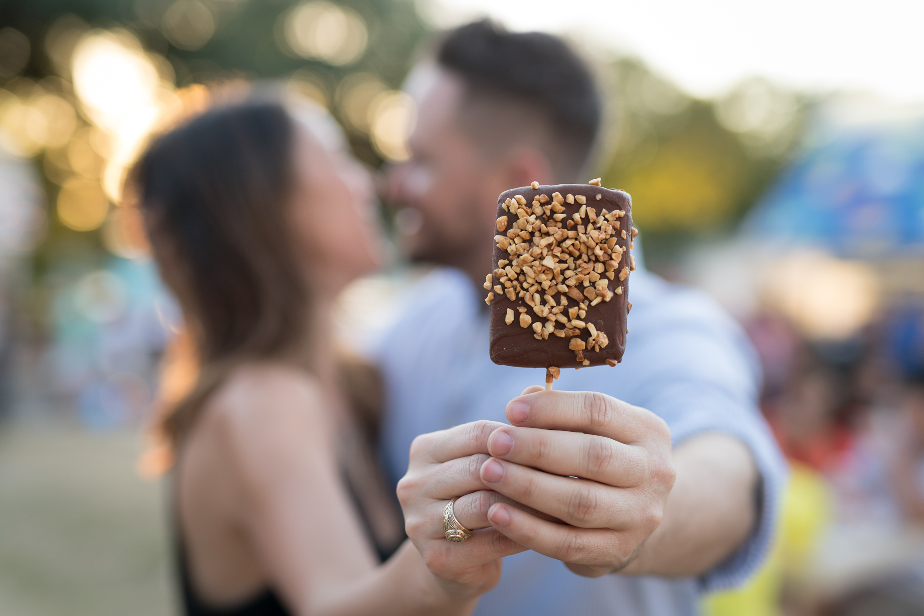 Ice cream and a kiss at The State Fair of Texas. Photography by Kevin Brown