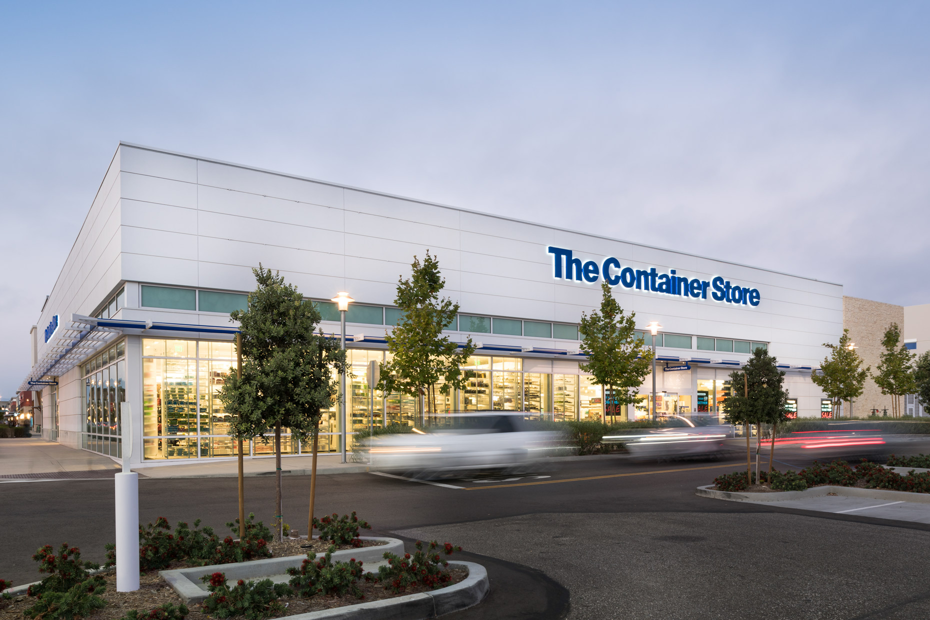 The Container Store architectural exterior photography by Kevin Brown