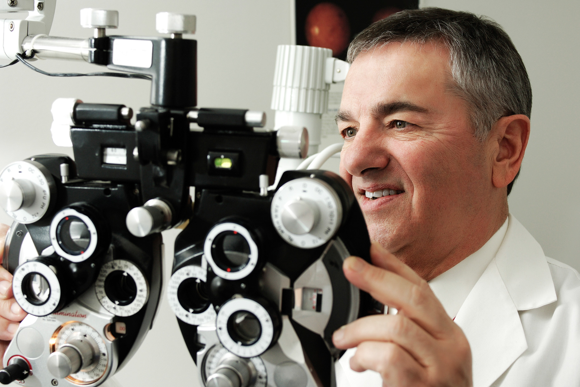 Optometrist - Healthcare photography by Dallas photographer Kevin Brown