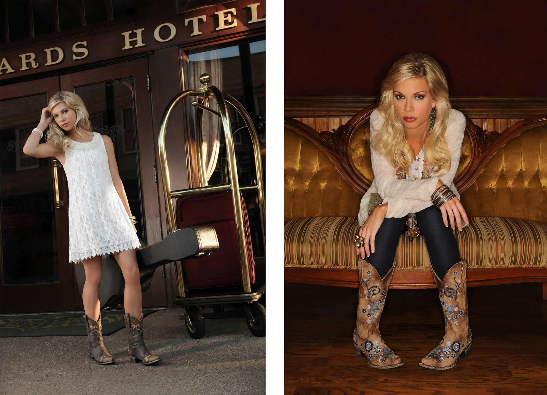 Fashion photography for Lane Boots by Dallas photographer Kevin Brown