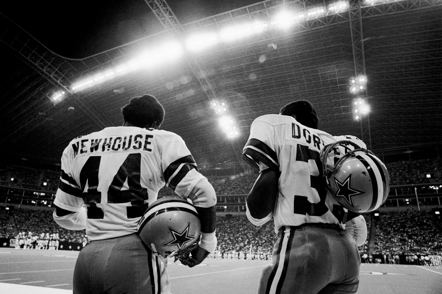 Robert Newhouse and Tony Dorsett Dallas Cowboys 1981 photo by Kevin Brown