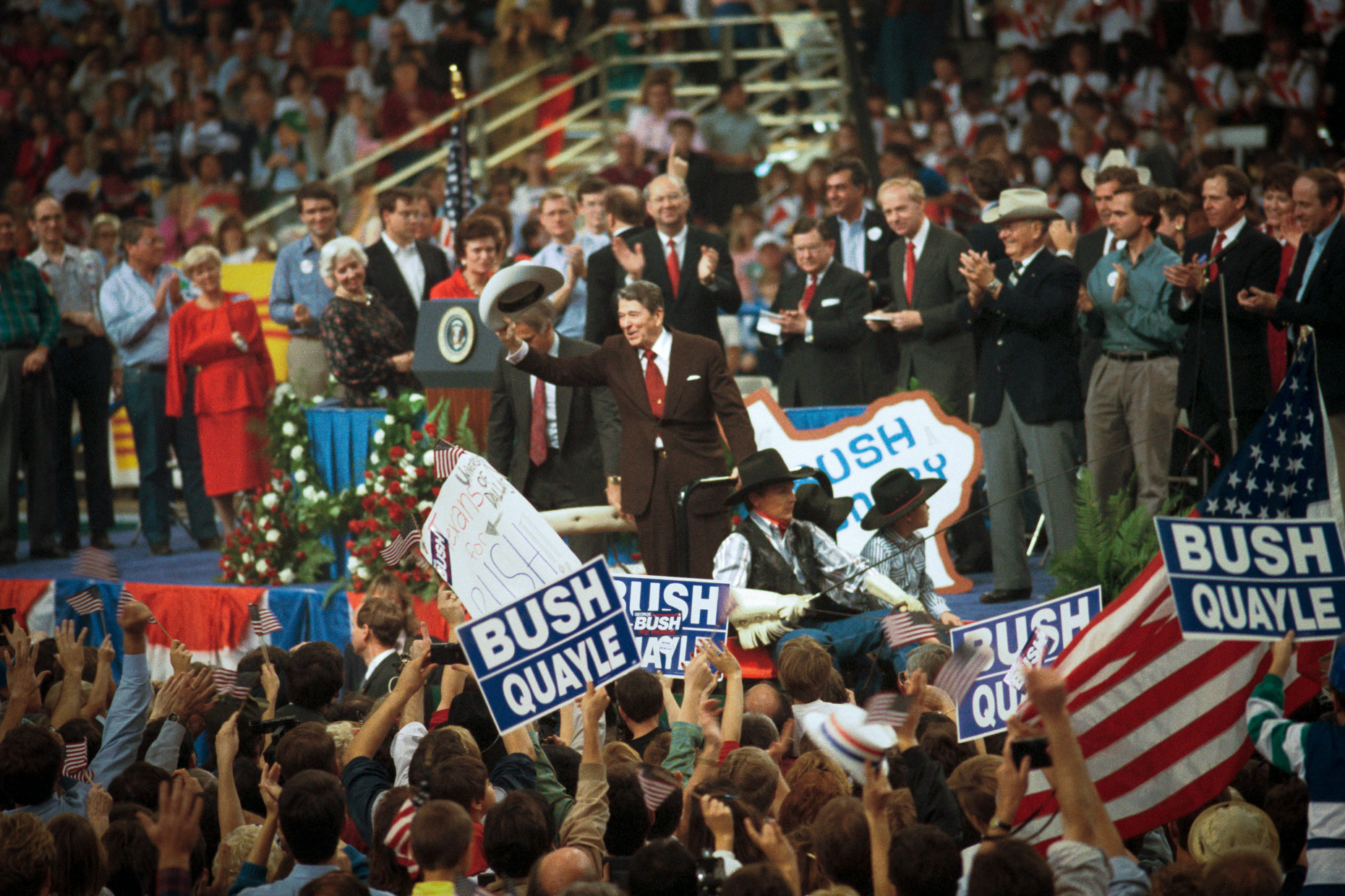 Ronald Reagan in Dallas, TX 1986 by Kevin Brown