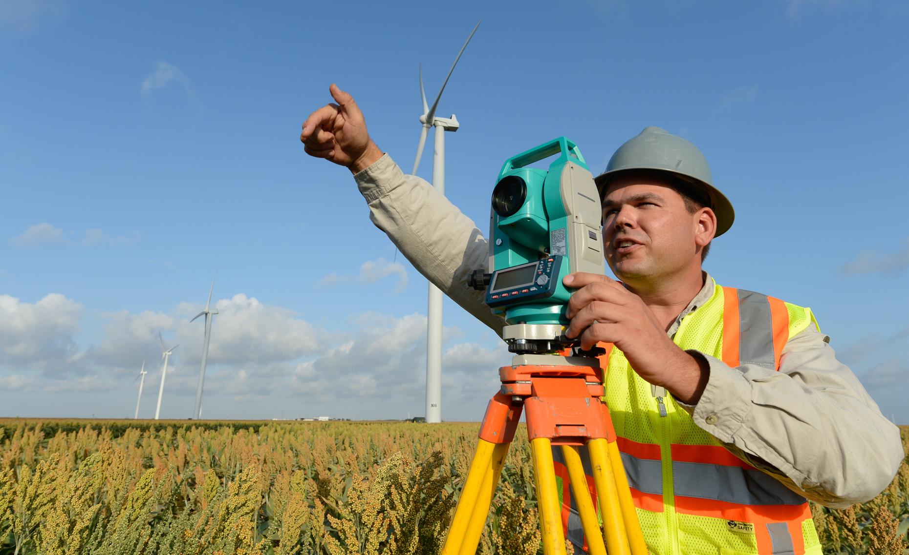 Surveyor in Corpus Christi, Texas by industrial photographer Kevin Brown.