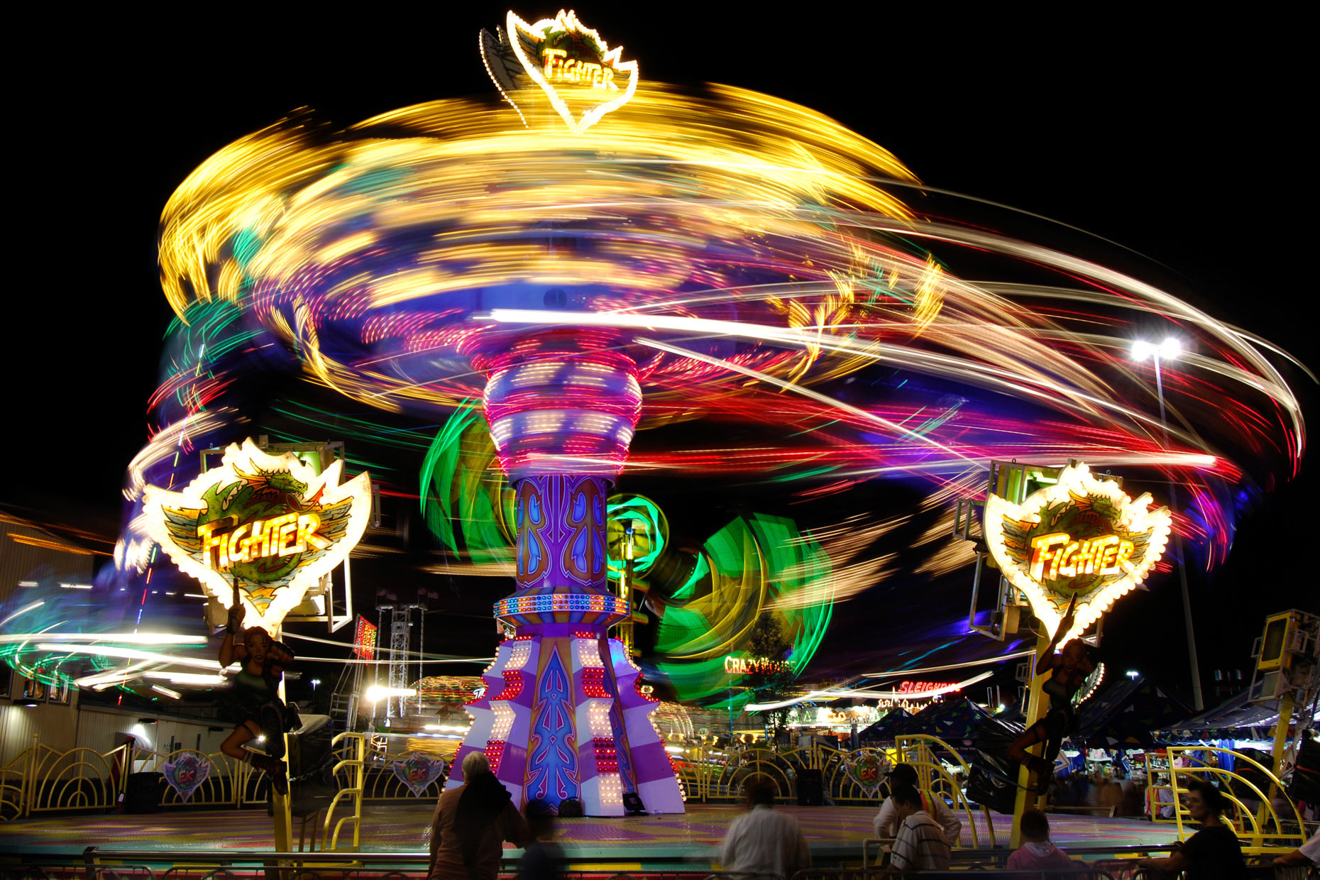 Midway ride at The State Fair of Texas. Photography by Kevin Brown