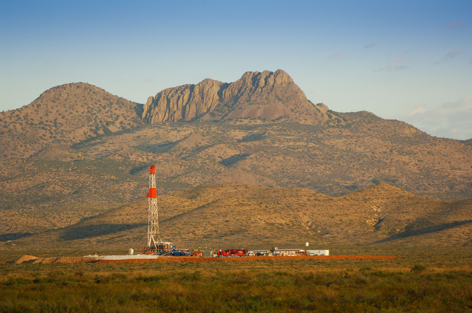 West Texas oil rig, near the Davis mountains, photographed by Kevin Brown.
